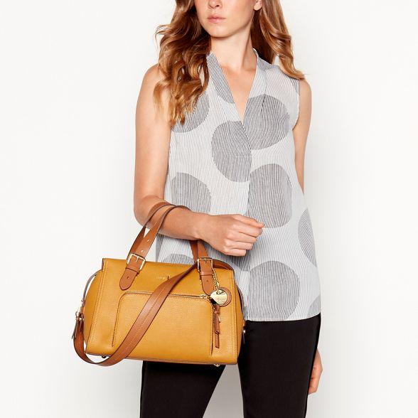 Conran bag by 'Holland Park' yellow Jasper Dark J faux grab leather PxqwvZxEd