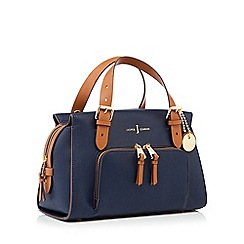 J by Jasper Conran - Navy faux leather 'Holland Park' grab bag