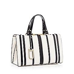 J by Jasper Conran - Cream striped faux leather 'Esme' doctors bag