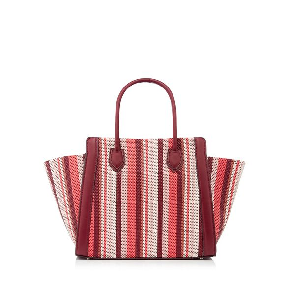 red Jasper tote bag woven Conran by Wine faux stripe 'Aurelia' J leather g7BSIqxnpw