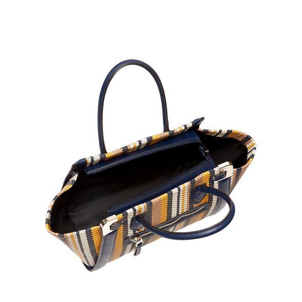 stripe faux woven Jasper J by Navy tote bag Conran 'Aurelia' leather IYwxX7qH