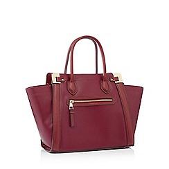 J By Jasper Conran Wine Red Grained Faux Leather Aurelia Tote Bag