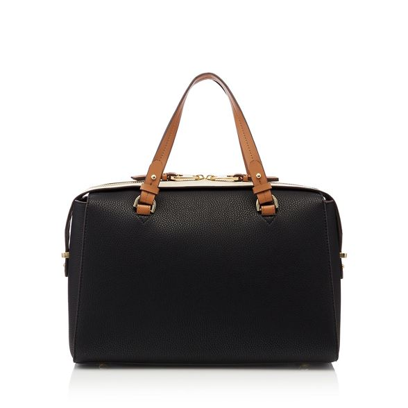 large by 'Balham' Jasper leather bag J Conran bowler Black faux R0HUgxnxWO