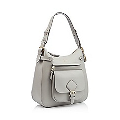 J by Jasper Conran - Grey textured finish 'Strawberry Hill' shoulder bag
