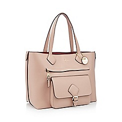 J by Jasper Conran - Pink textured finish 'Strawberry Hill' shopper bag