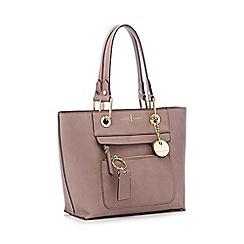 J by Jasper Conran - Pale pink 'Richmond' front zip detail mini tote bag