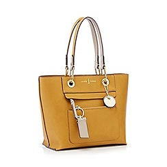 J by Jasper Conran - Mustard 'Richmond' front zip detail mini tote bag