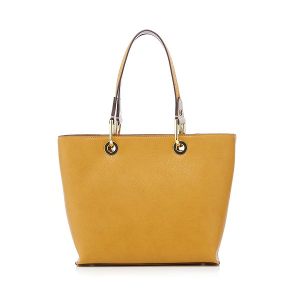 J mini Conran front Mustard tote zip detail bag