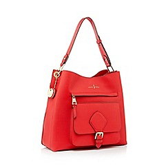 J by Jasper Conran - Red textured faux leather 'Strawberry Hill' hobo bag
