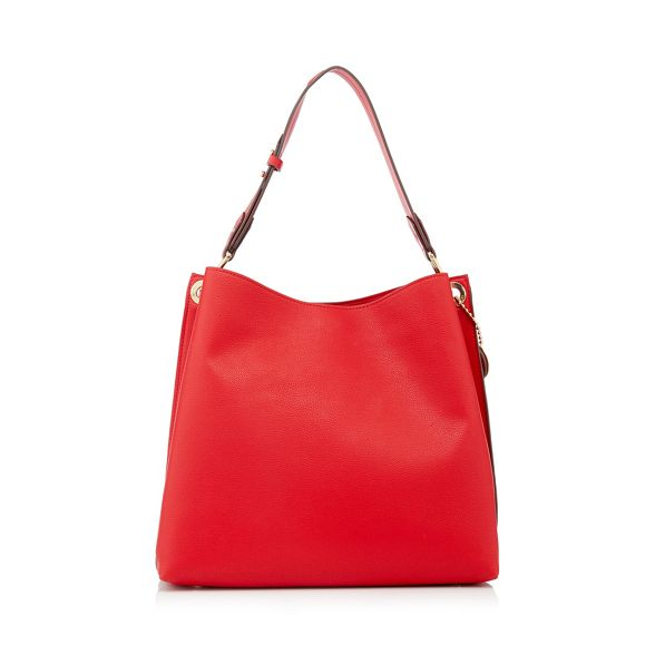 bag leather hobo 'Strawberry Jasper Hill' textured by J Conran Red faux vY7Raqw