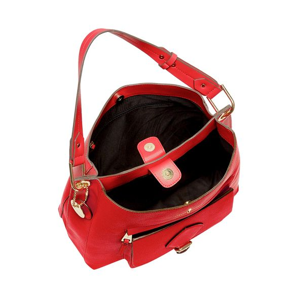 Conran bag textured hobo Jasper Hill' 'Strawberry by Red leather faux J qaSEOwvc