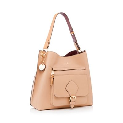 J By Jasper Conran   Tan Textured Faux Leather 'strawberry Hill' Hobo Bag by J By Jasper Conran