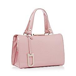 J by Jasper Conran - Light pink small patent 'Esme' grab bag