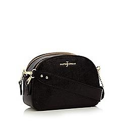 J by Jasper Conran - Black crinkle patent 'Esher' cross body bag