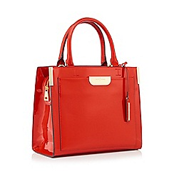J by Jasper Conran - Orange large patent 'Barnes' grab bag