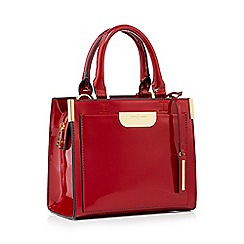 J by Jasper Conran - Wine red small patent 'Barnes' grab bag
