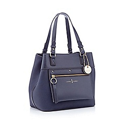 J By Jasper Conran Navy Faux Leather Cannes Small Hobo Bag