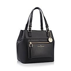 J by Jasper Conran - Black faux leather 'Cannes' small hobo bag