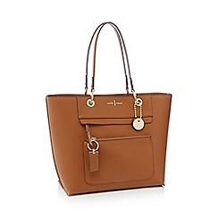 J by Jasper Conran - Tan 'Richmond' front zip detail tote bag