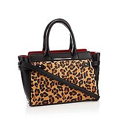 J by Jasper Conran - Black 'Brompton' leopard print leather bag
