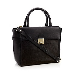 J by Jasper Conran - Black leather 'Sloane' grab bag