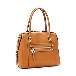 J by Jasper Conran - Tan stud detail bowler bag