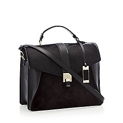J by Jasper Conran - Black leather 'Delilah' satchel bag
