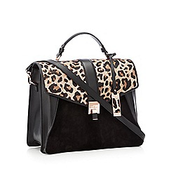 J by Jasper Conran - Natural animal print leather 'Delilah' satchel bag