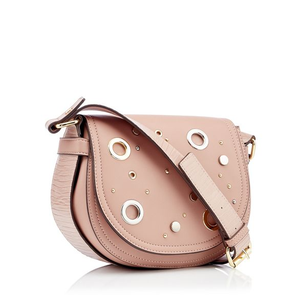 body bag eyelet Pink leather saddle cross Julien faux stud Star Macdonald by qvWPgwWRB