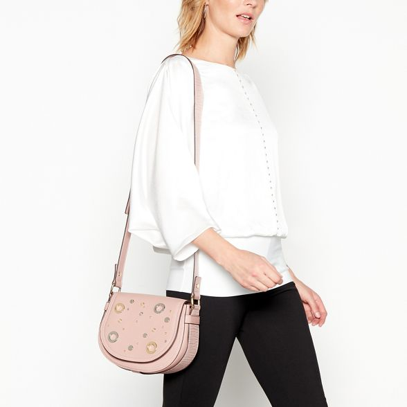Macdonald faux Pink stud body Star eyelet Julien bag leather by saddle cross EaAqWfgT
