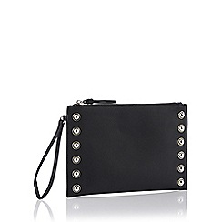 Star by Julien Macdonald - Black studded trim clutch bag