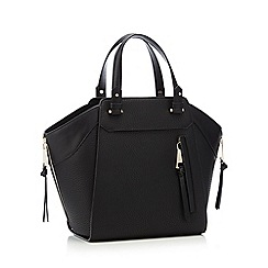 Star by Julien Macdonald - Black grained faux leather large shopper bag