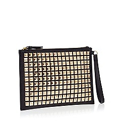 Star by Julien Macdonald - Black pyramid stud clutch bag