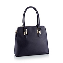 Principles - Navy faux leather 'Kennedy' large grab bag