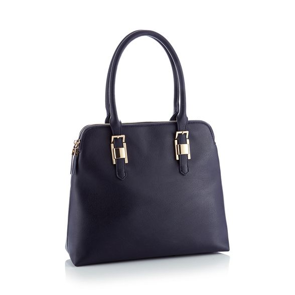 grab bag Principles Navy faux 'Kennedy' large leather AF4qzX