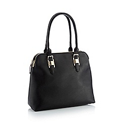 Principles - Black faux leather 'Kennedy' large grab bag