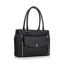 Principles - Black grained envelope pocket large grab bag