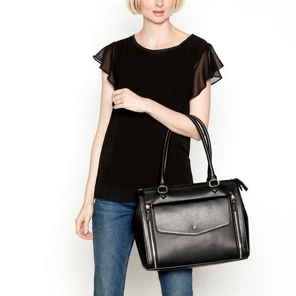 grained pocket Black envelope bag large Principles grab gqO5w