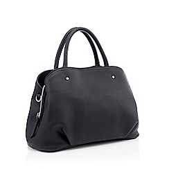 Principles - Black faux leather grab bag