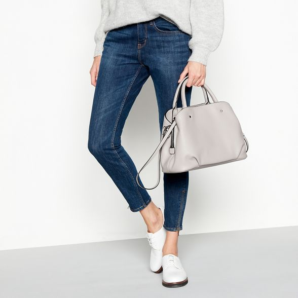 bag leather Principles grab faux Grey SwanTIY