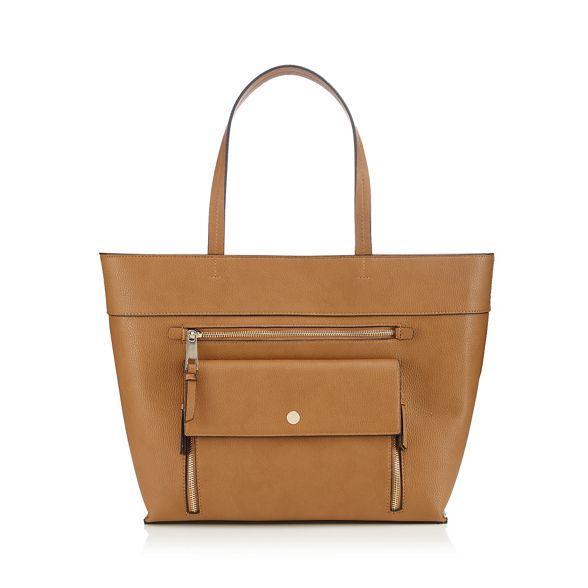 grained bag Black shopper front Principles zip pocket RzBwqxZ