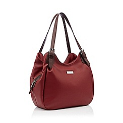 Principles - Red faux leather scoop grab bag