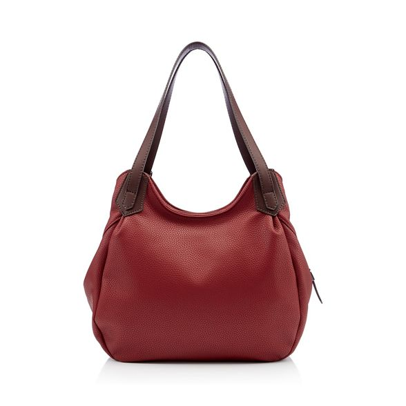 Principles faux Red bag leather grab scoop rgrZwq