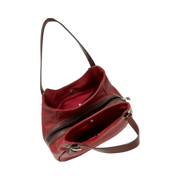 Principles scoop bag leather Red faux grab 8aSq8rw