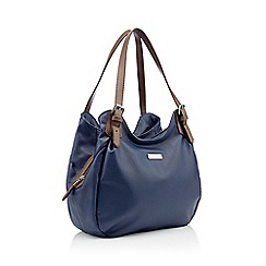 Principles - Navy faux leather scoop grab bag