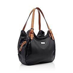 Principles - Black faux leather scoop grab bag