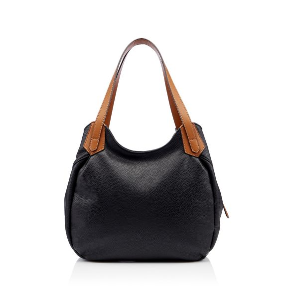 Principles bag leather faux Black scoop grab n8zZFwq