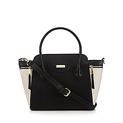 Principles - Black winged zip detail grab bag