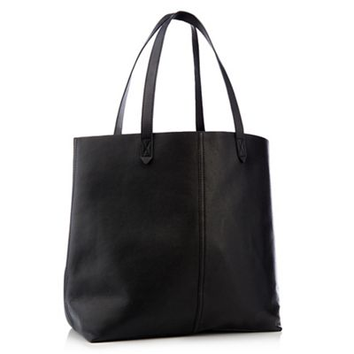 Principles   Black Genuine Leather Unlined Shopper Bag by Principles