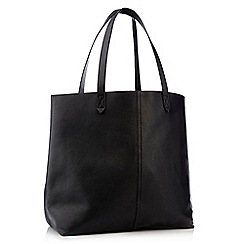 Principles - Black genuine leather unlined shopper bag